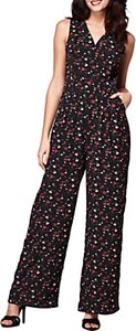 Read more about Yumi ditsy floral print jumpsuit black multi