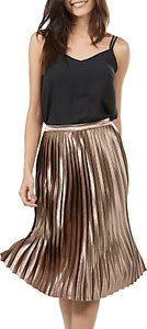 Read more about Sugarhill boutique lynette pleated midi skirt bronze