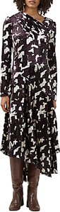 Read more about Finery faith abstract print velvet dress multi
