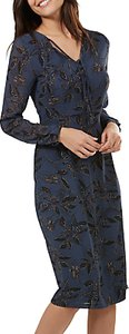Read more about Sugarhill boutique noor floral vine midi dress navy