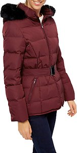 Read more about Jaeger short belted puffer coat red