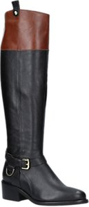 Read more about Carvela whip knee length boots black leather