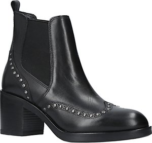 Read more about Carvela stop studded block heeled ankle chelsea boots black leather