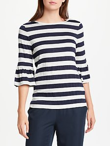 Read more about Max studio bell sleeve striped jersey top blue multi