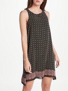 Read more about Max studio sleeveless geometric border print dress black multi