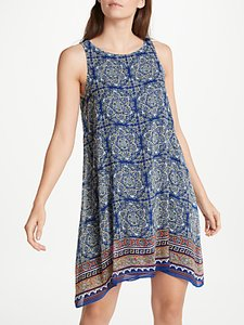 Read more about Max studio sleeveless printed dress monaco blue multi zen tile