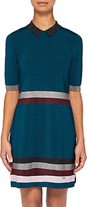 Read more about Ted baker erin metallic stripe knitted dress teal blue