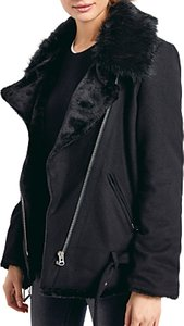 Read more about Hush wool blend biker jacket black