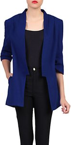 Read more about Jolie moi open front detail blazer royal blue