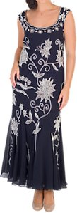 Read more about Chesca embroidered beaded dress navy ivory