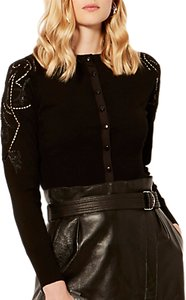 Read more about Karen millen beaded cutwork cardigan black