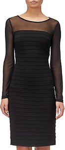 Read more about Adrianna papell matte jersey pintuck dress black
