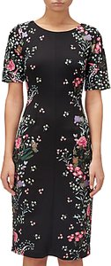 Read more about Adrianna papell floral printed sheath dress black