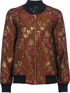 Read more about French connection oma jacquard bomber jacket beaujolais gold