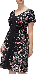 Read more about Adrianna papell floral printed crepe scuba plus dress black multi