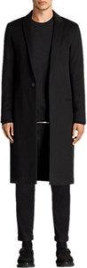 Read more about Allsaints bradford wool silk overcoat black