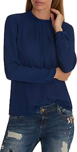 Read more about Betty co pleated chiffon blouse blue ink