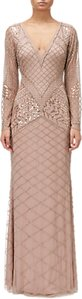 Read more about Adrianna papell beaded long dress rose gold