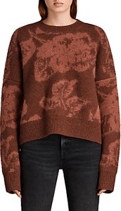 Read more about Allsaints kasuri crew neck jumper copper red