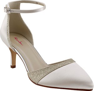 Read more about Rainbow club flo two part court shoes ivory