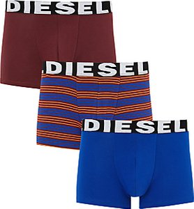 Read more about Diesel shawn plain stripe trunks pack of 3 burgundy blue