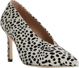 Read more about Dune black amigos stiletto heeled court shoes black white