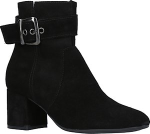 Read more about Carvela comfort rachel block heeled ankle boots black suede