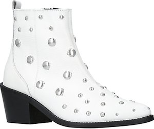 Read more about Kurt geiger dome embellished block heeled ankle boots white leather
