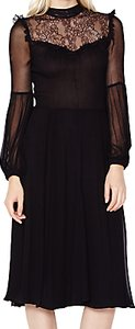 Read more about Ghost cora lace panel dress black