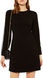 Read more about Karen millen cut out knitted a-line dress black multi