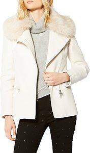 Read more about Karen millen faux fur biker jacket stone