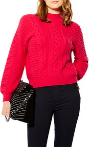 Read more about Karen millen cable knit jumper pink