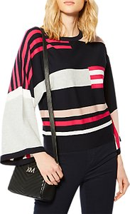 Read more about Karen millen colourblock kimono jumper multi