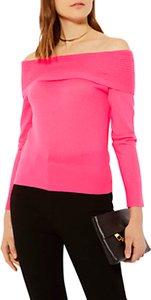 Read more about Karen millen cashmere bardot jumper pink