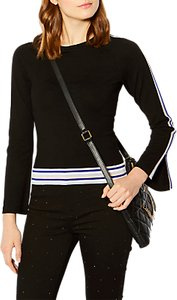 Read more about Karen millen striped jumper black multi