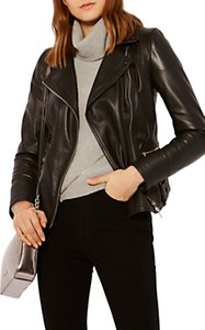 Read more about Karen millen strong shoulder leather biker jacket black