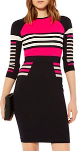 Read more about Karen millen stripe block knit jumper dress multi