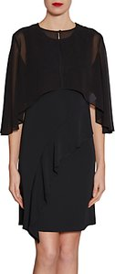 Read more about Gina bacconi chiffon cape with open back detail
