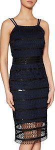 Read more about Gina bacconi shannon sequin guipure dress black navy