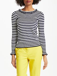 Read more about Boden bernadette stripe jumper navy ivory