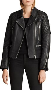 Read more about Allsaints esher leather biker jacket black