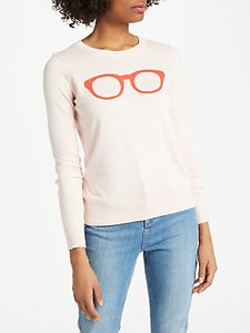 Read more about Boden rafaela printed jumper pink glasses