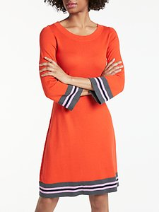 Read more about Boden trudy knitted dress red pop