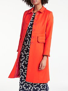 Read more about Boden lena frill coat red pop