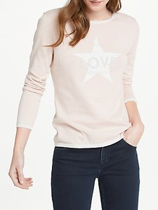 Read more about Oui love star print cotton jumper rose