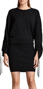 Read more about Allsaints ero knitted wool rich dress black