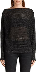 Read more about Allsaints elle metallic jumper black