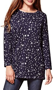 Read more about Yumi star print oversized jumper navy