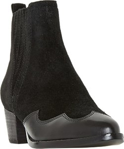 Read more about Dune papio western ankle boots black suede