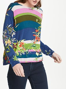 Read more about Oui floral tropical print cotton jumper multi
